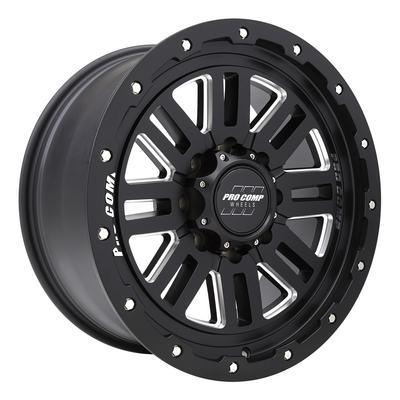 Pro Comp 61 Series Cognos, 20x9 Wheels with 8x6.5 Bolt Pattern - Satin Black Milled - 5161-298950