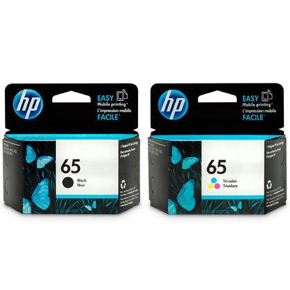 HP 65 T0A36AN cartouche d'encre originale combo noire et tri-couleur