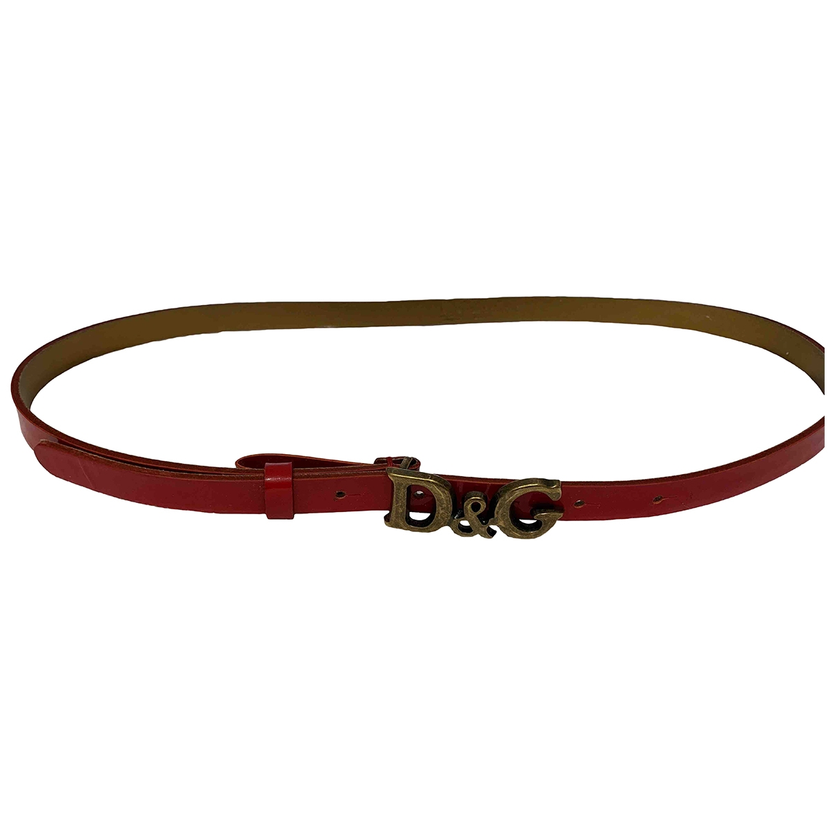 D&g \N Red Patent leather belt for Women XS International