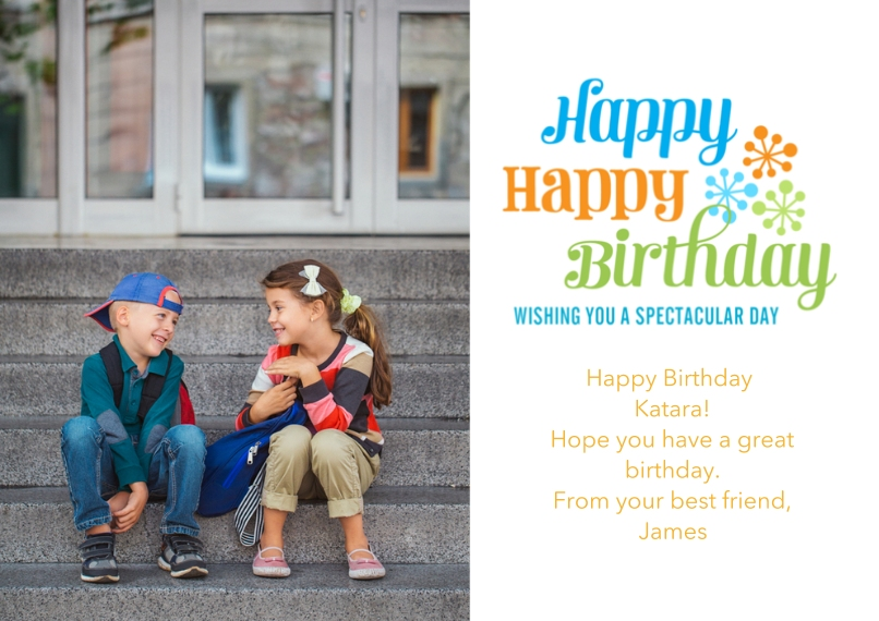 Birthday Greeting Cards 5x7 Cards, Premium Cardstock 120lb with Rounded Corners, Card & Stationery -Spectacular Starbursts