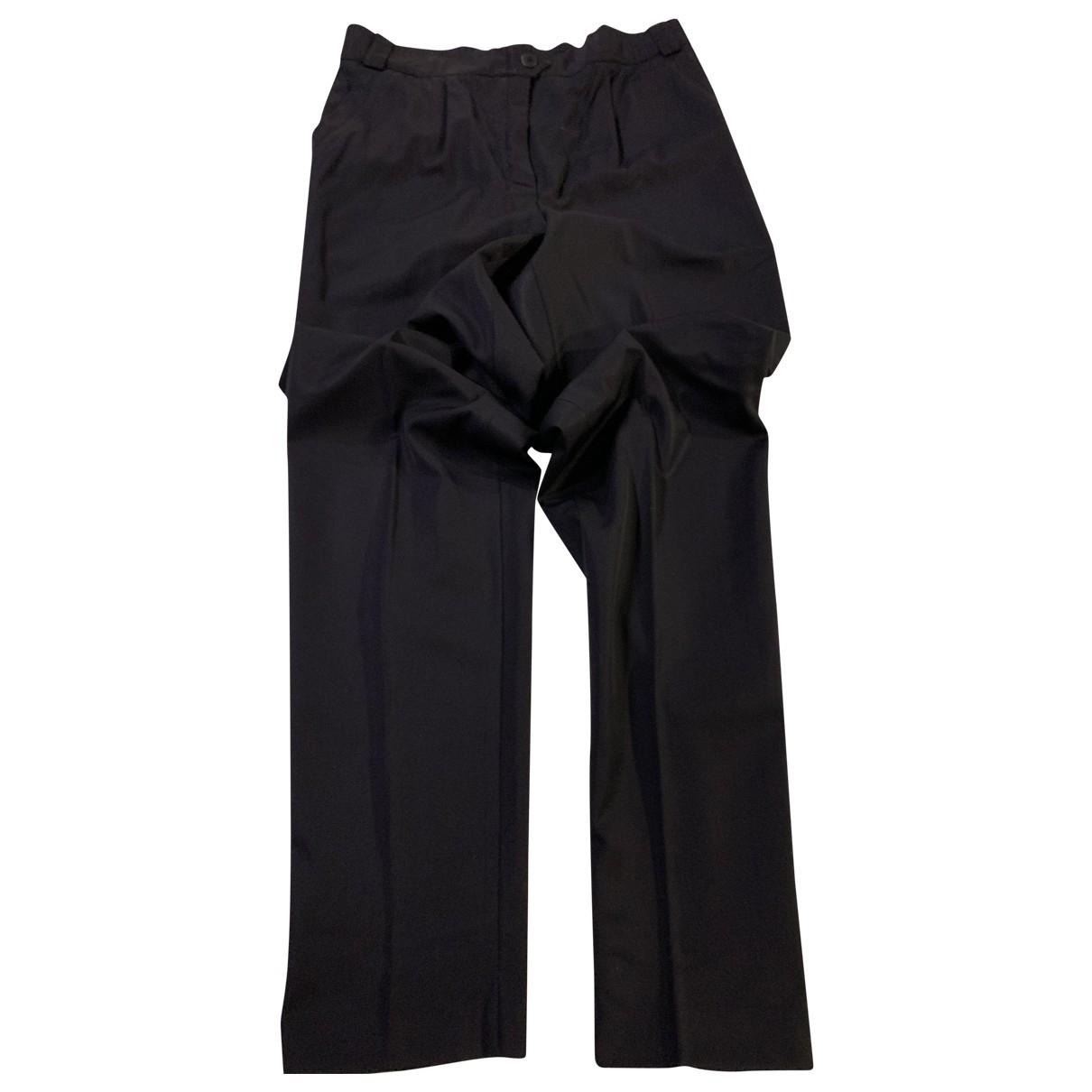 Escada \N Blue Wool Trousers for Women 40 FR