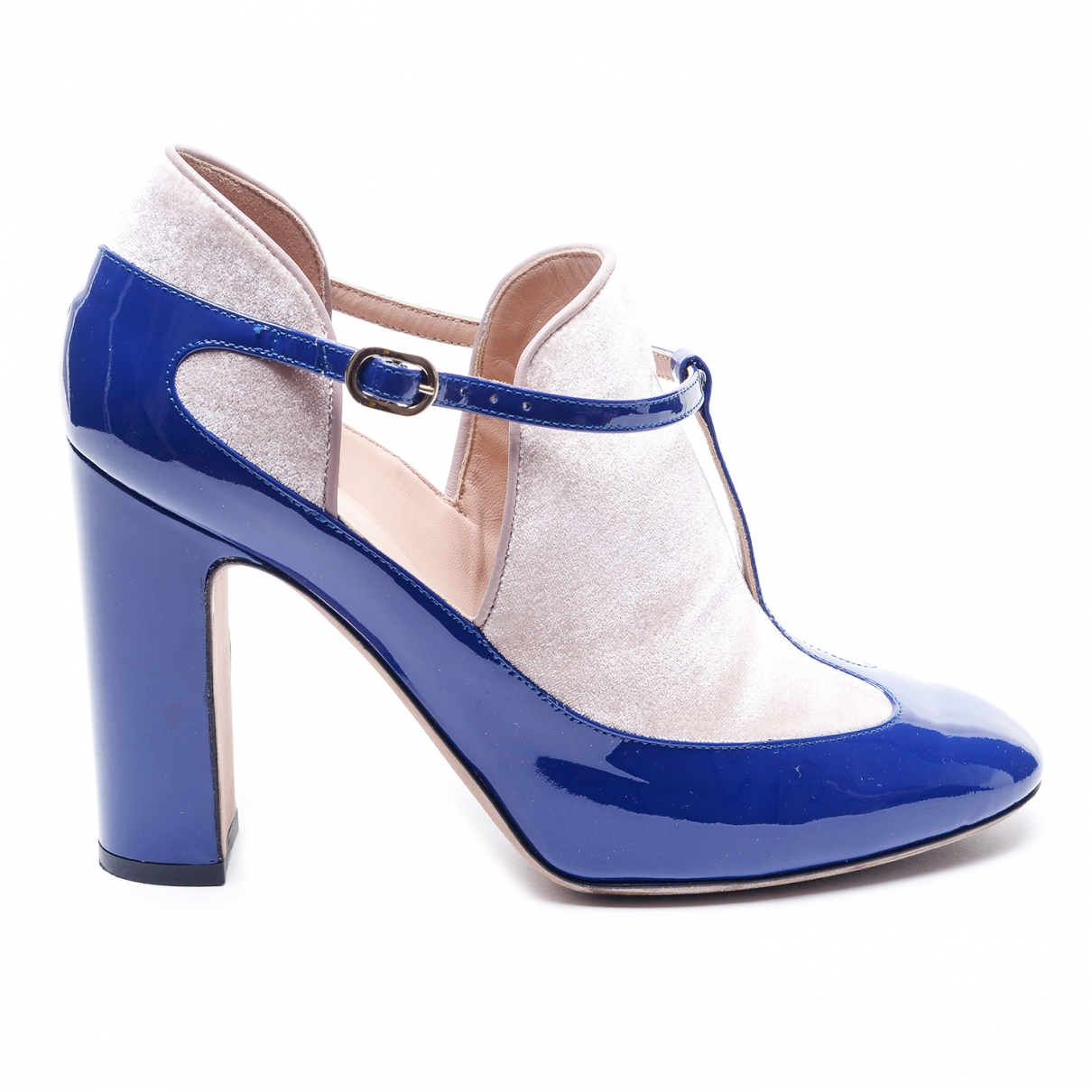 Valentino Garavani \N Blue Patent leather Heels for Women 38 EU