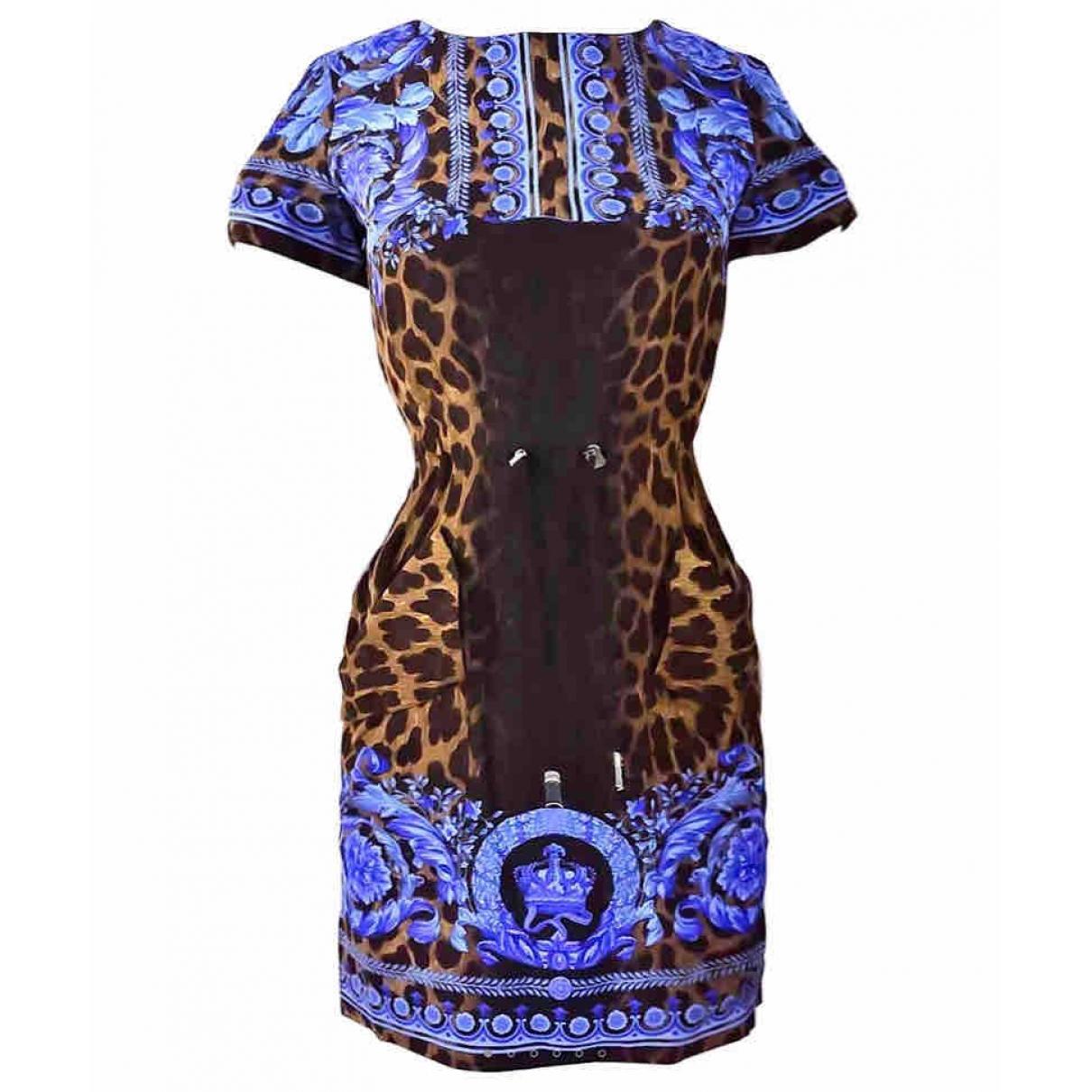 Versace \N Blue Silk dress for Women 38 IT