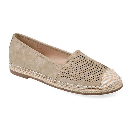 Journee Collection Womens Rosela Slip-On Shoe, 6 1/2 Medium, Beige