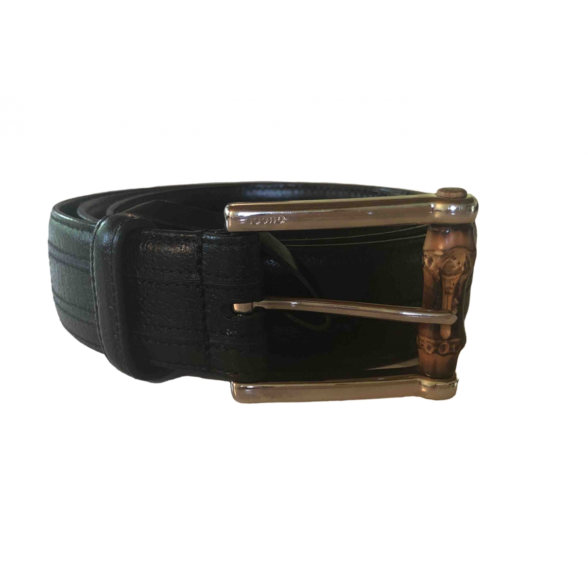 Gucci \N Black Leather belt for Women 95 cm