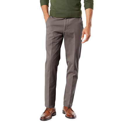 Dockers Men's Slim Fit Workday Khaki Smart 360 Flex Pants D1, 36 32, Black