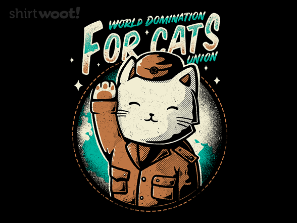 World Domination For Cats Union T Shirt