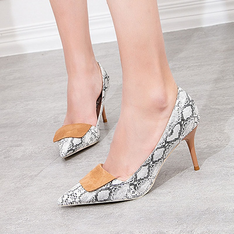 Ericdress Pointed Toe Serpentine Stiletto Heel High Heel (5-8cm) Thin Shoes