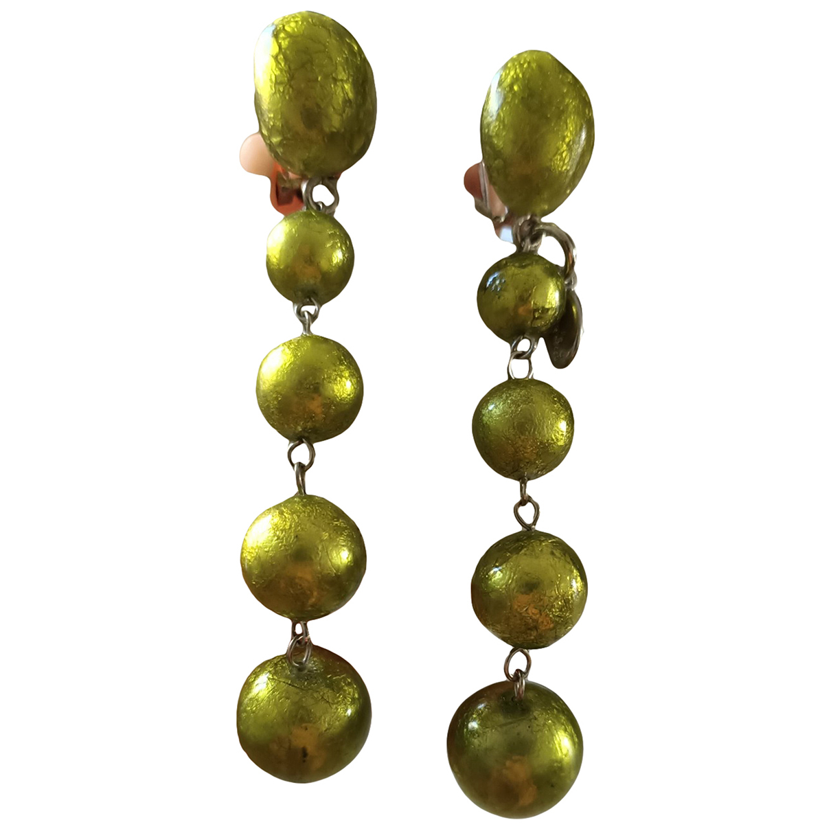 Autre Marque \N Green Steel Earrings for Women \N