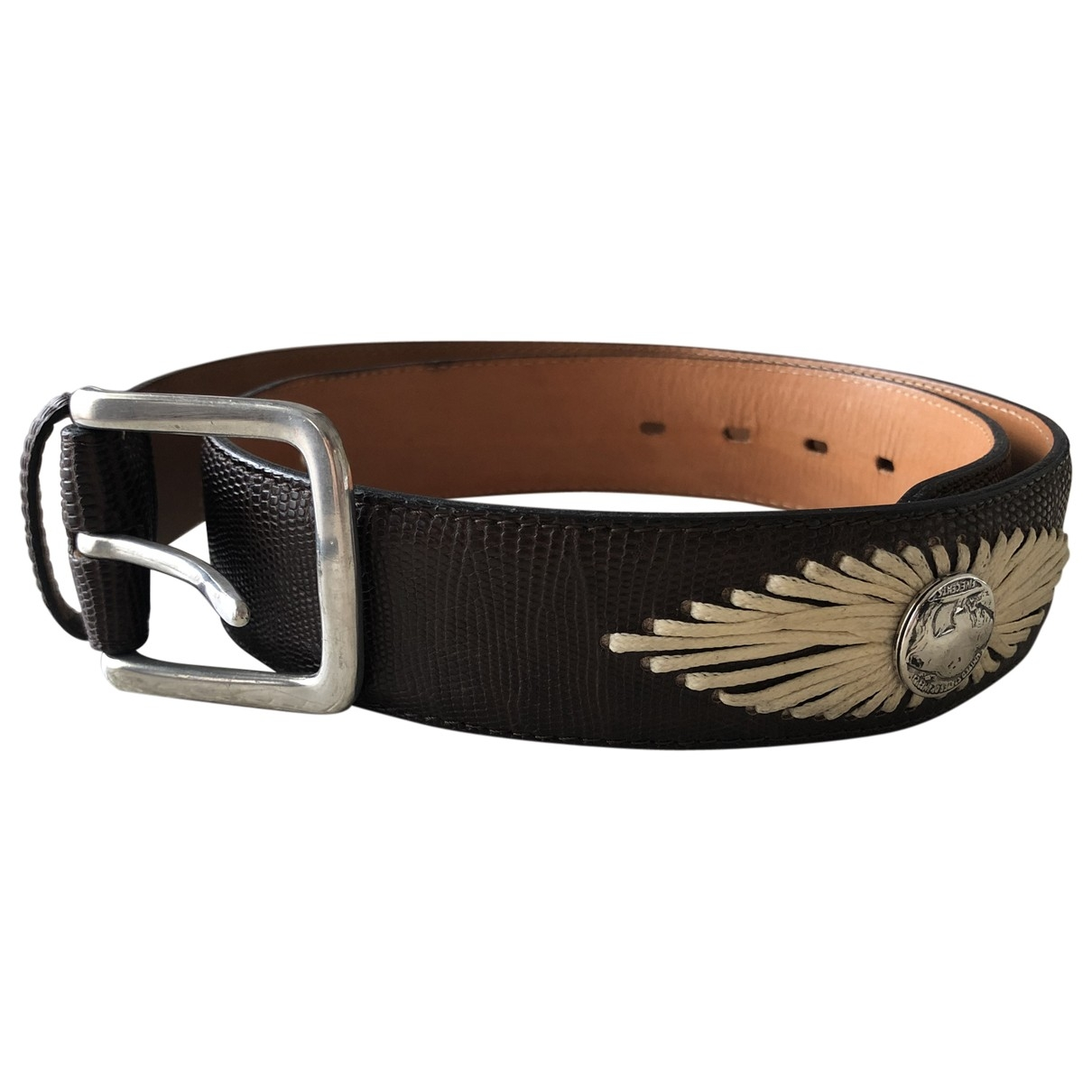 Fausto Colato \N Brown Exotic leathers belt for Women 85 cm