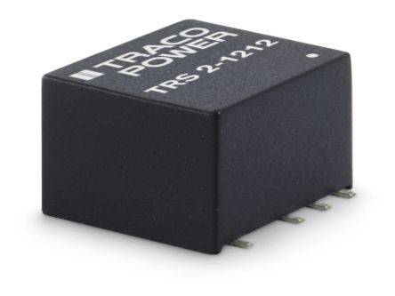 TRACOPOWER TRS 2 2W Isolated DC-DC Converter Surface Mount, Voltage in 4.5 → 13.2 V dc, Voltage out ±12V dc