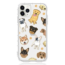 1pc Animal Print Clear iPhone Case