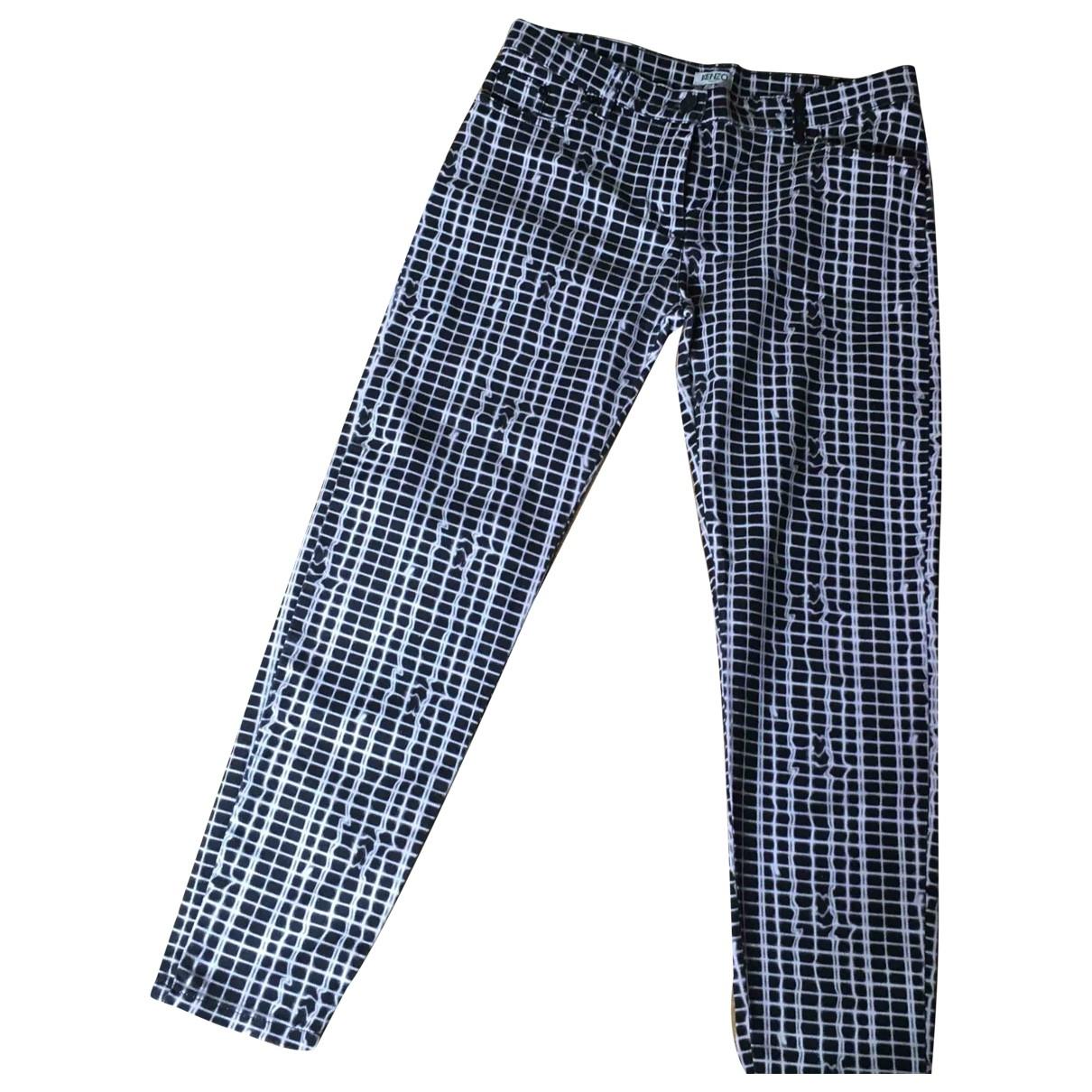 Kenzo \N White Denim - Jeans Trousers for Women 38 FR