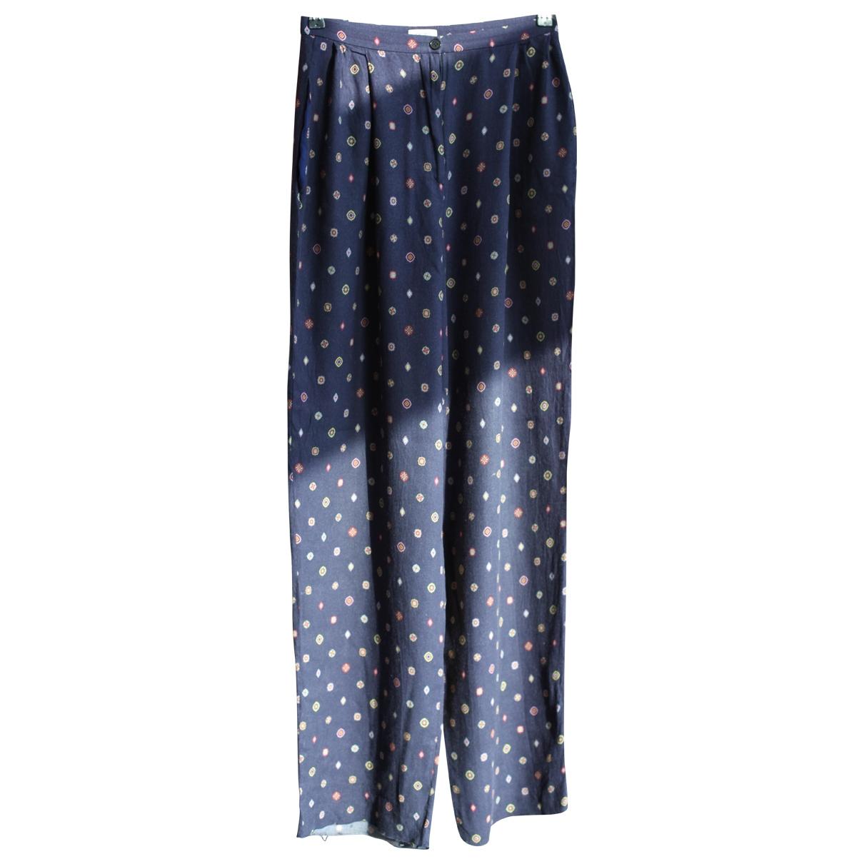 Kenzo \N Blue Trousers for Women 38 FR