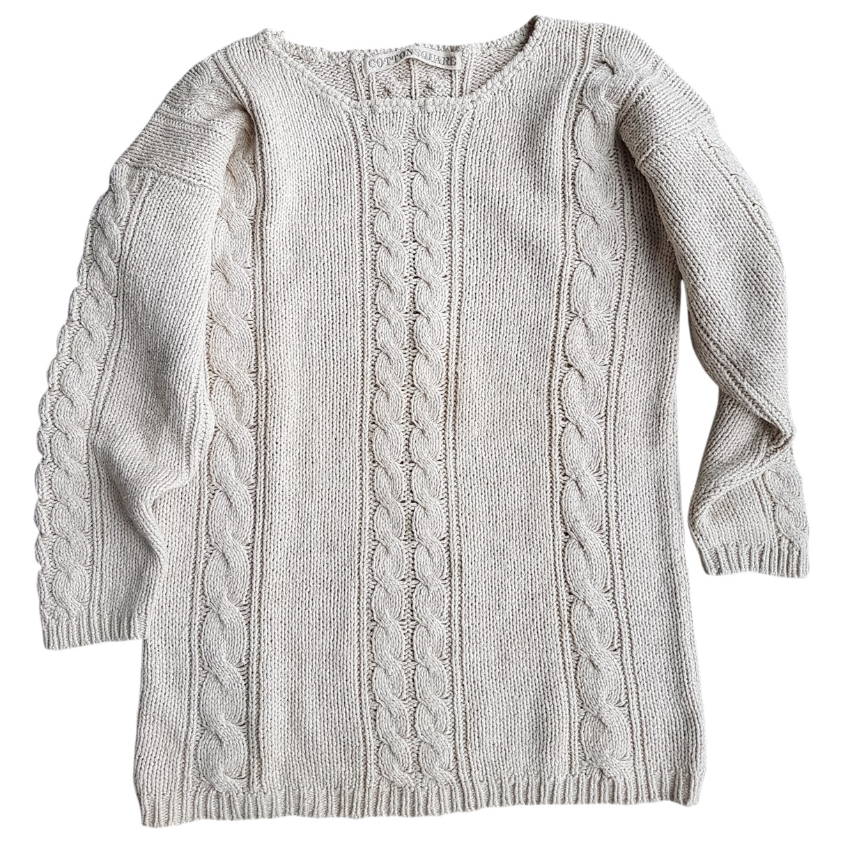 Non Signé / Unsigned \N Beige Cotton Knitwear for Women 36 FR