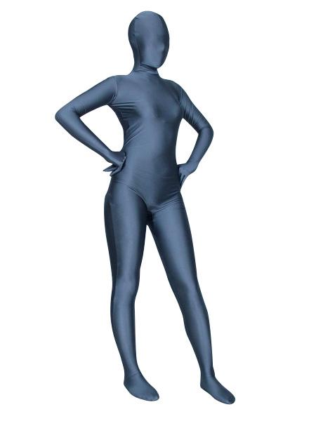 Milanoo Halloween Morph Suit Dusty Blue Lycra Spandex Zentai Suit