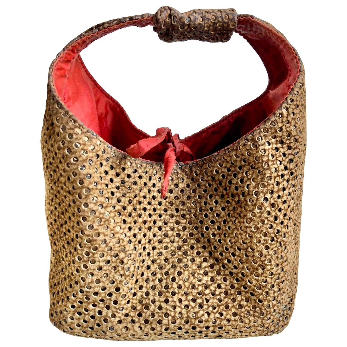 Non Signé / Unsigned \N Beige Suede handbag for Women \N