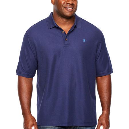 IZOD Mens Short Sleeve Polo Shirt Big and Tall, 2x-large Tall , Blue