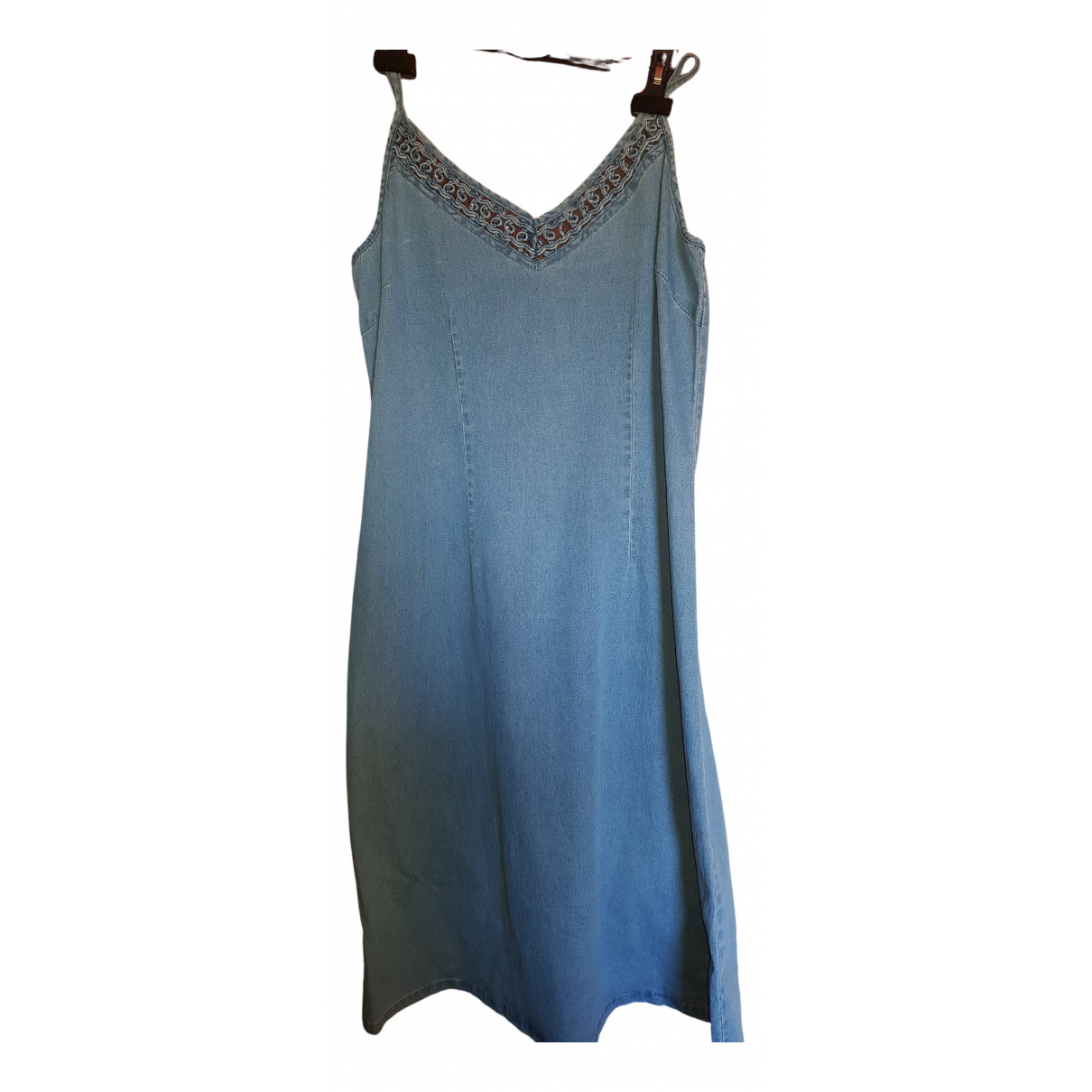 Non Signé / Unsigned \N Blue Cotton dress for Women 44 IT