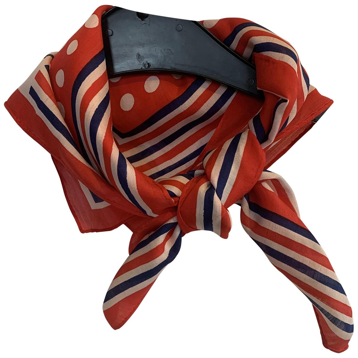 Jacques Fath \N Red Silk Silk handkerchief for Women \N