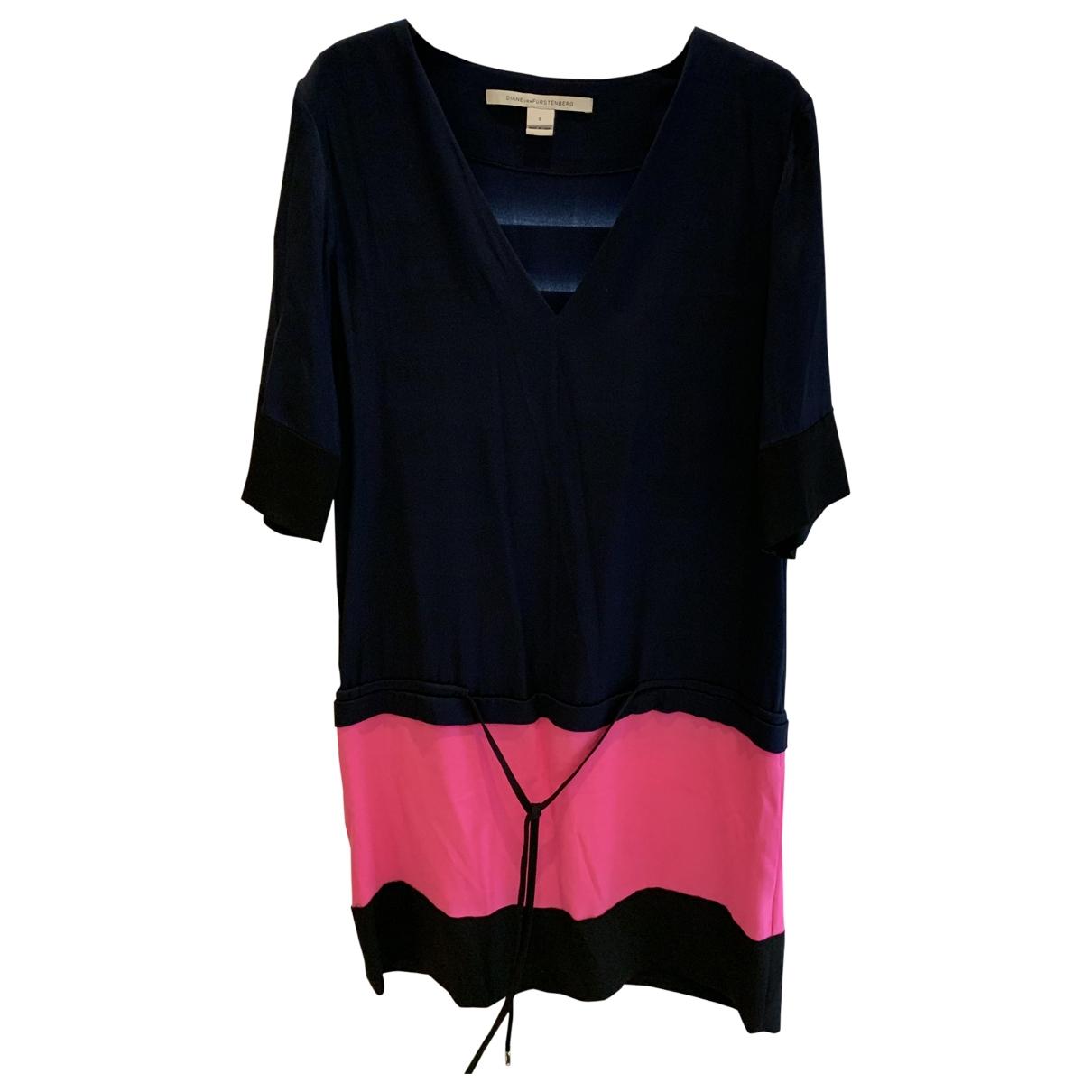 Diane Von Furstenberg \N Blue Silk dress for Women 0 0-5