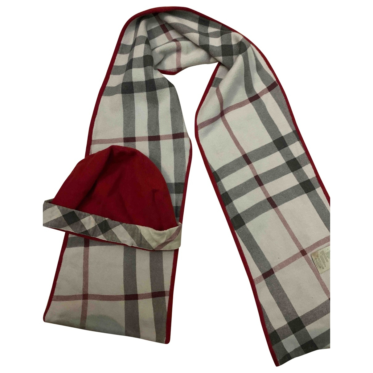 Burberry \N Red Cotton hat & Gloves for Kids 4 years - up to 102cm FR