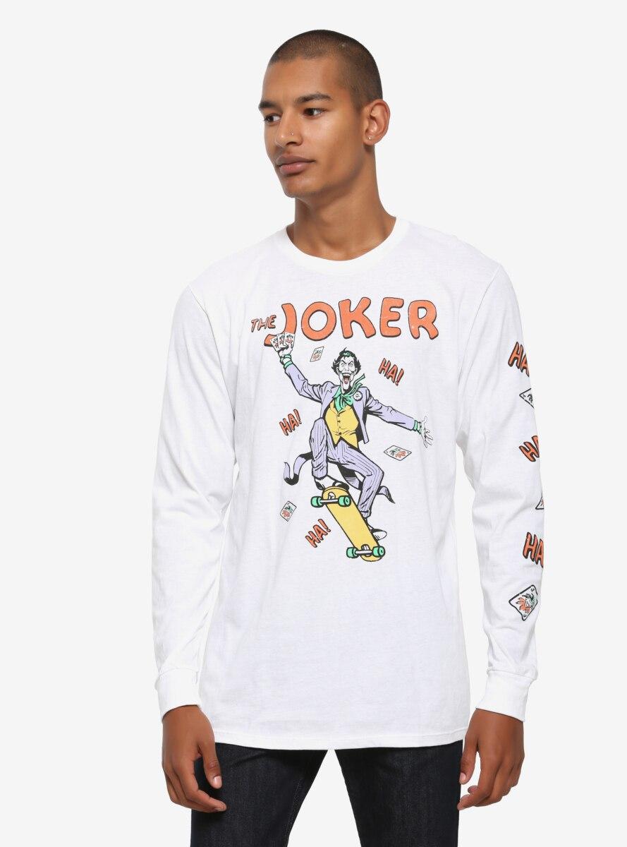 DC Comics The Joker Skateboarding Long Sleeve T-Shirt - BoxLunch Exclusive