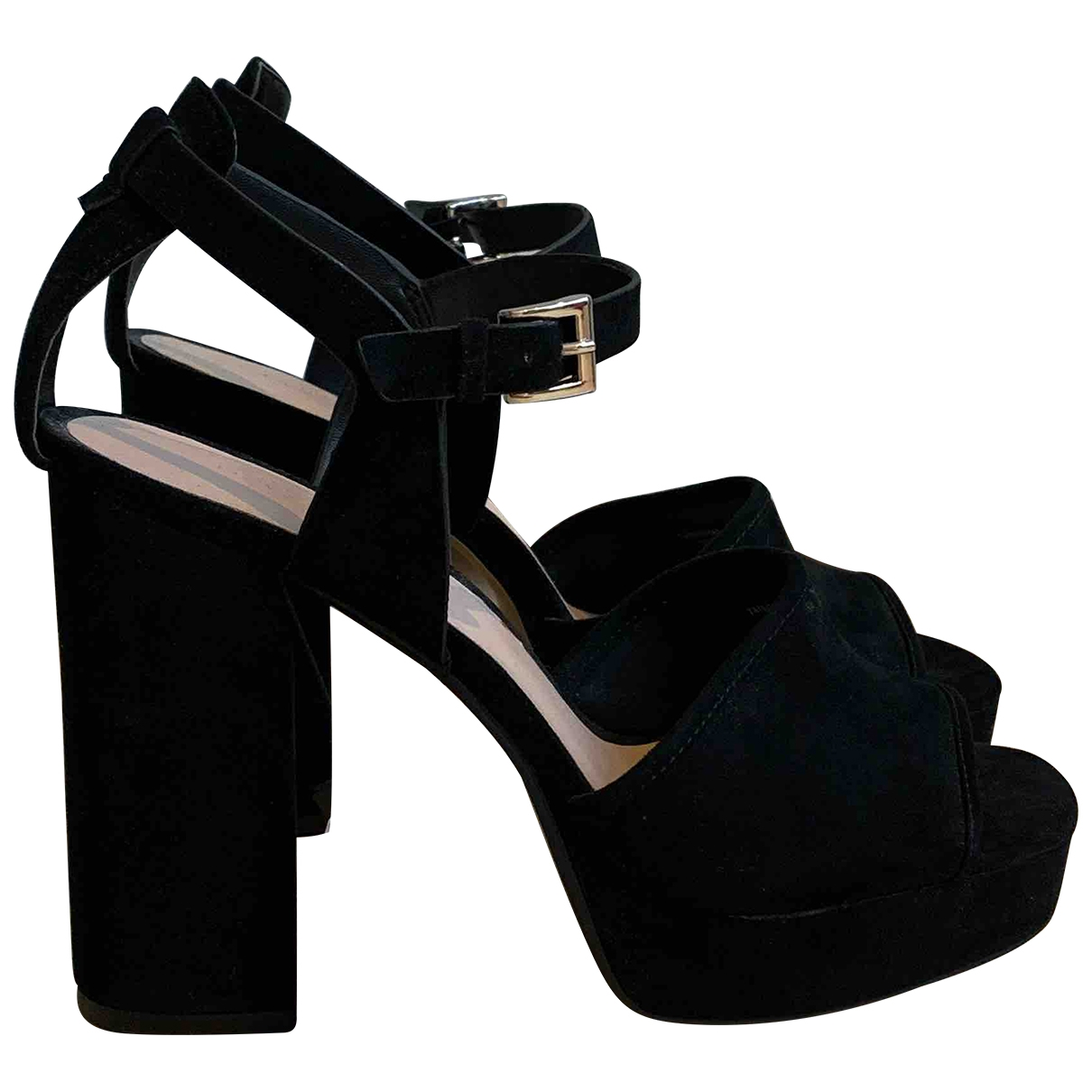 Zara \N Black Suede Heels for Women 41 EU