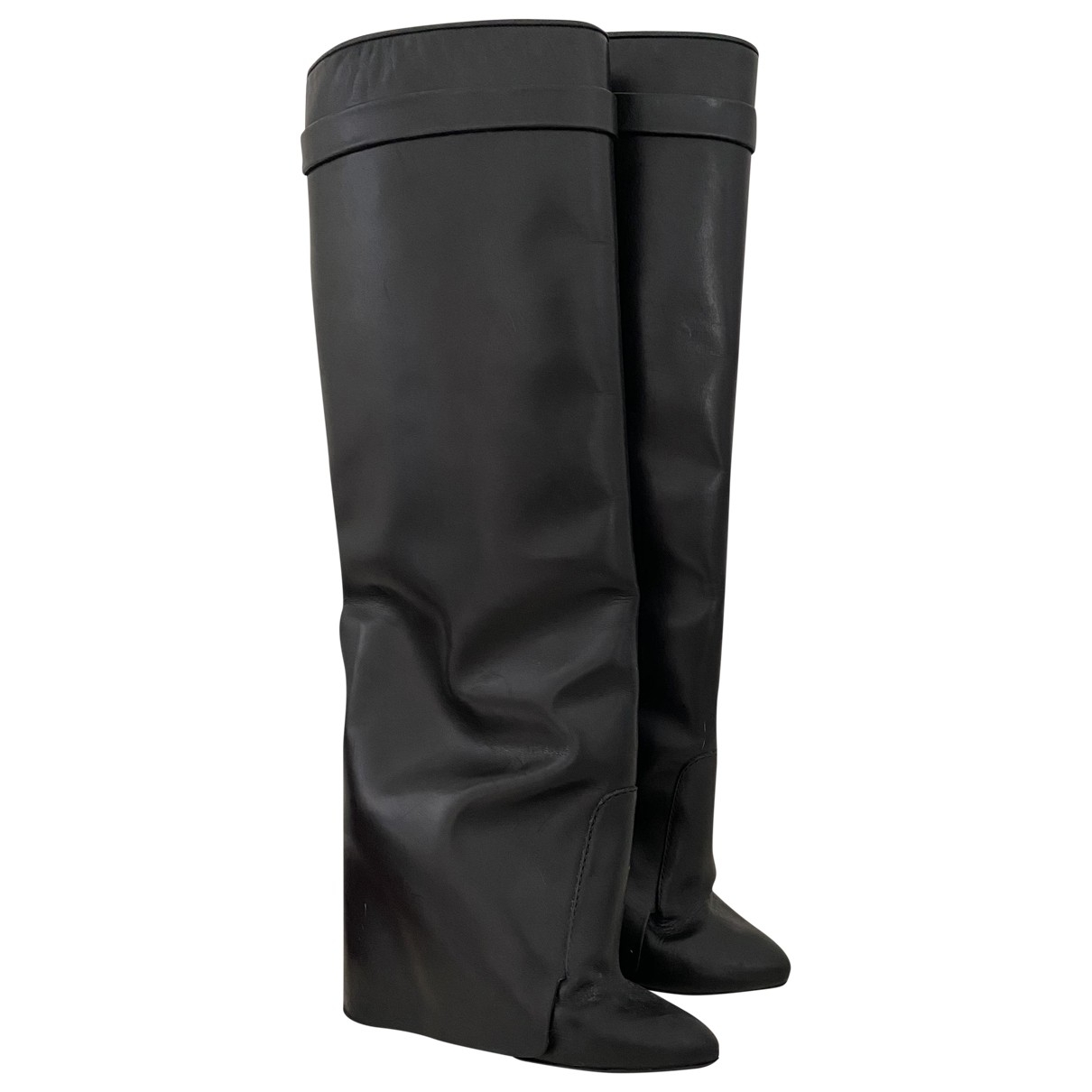 Givenchy \N Black Leather Boots for Women 39 EU