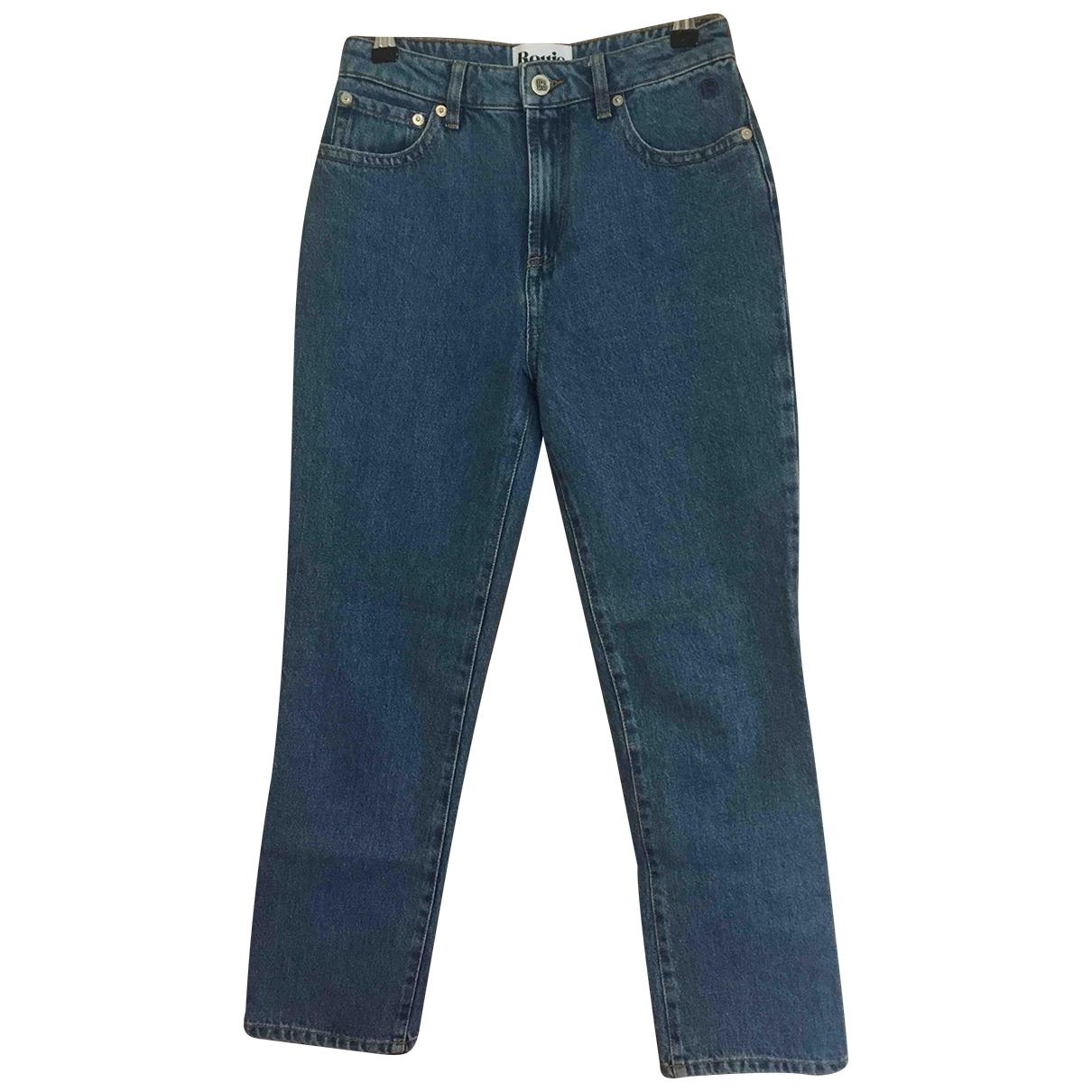 Rouje \N Blue Cotton Jeans for Women 36 FR