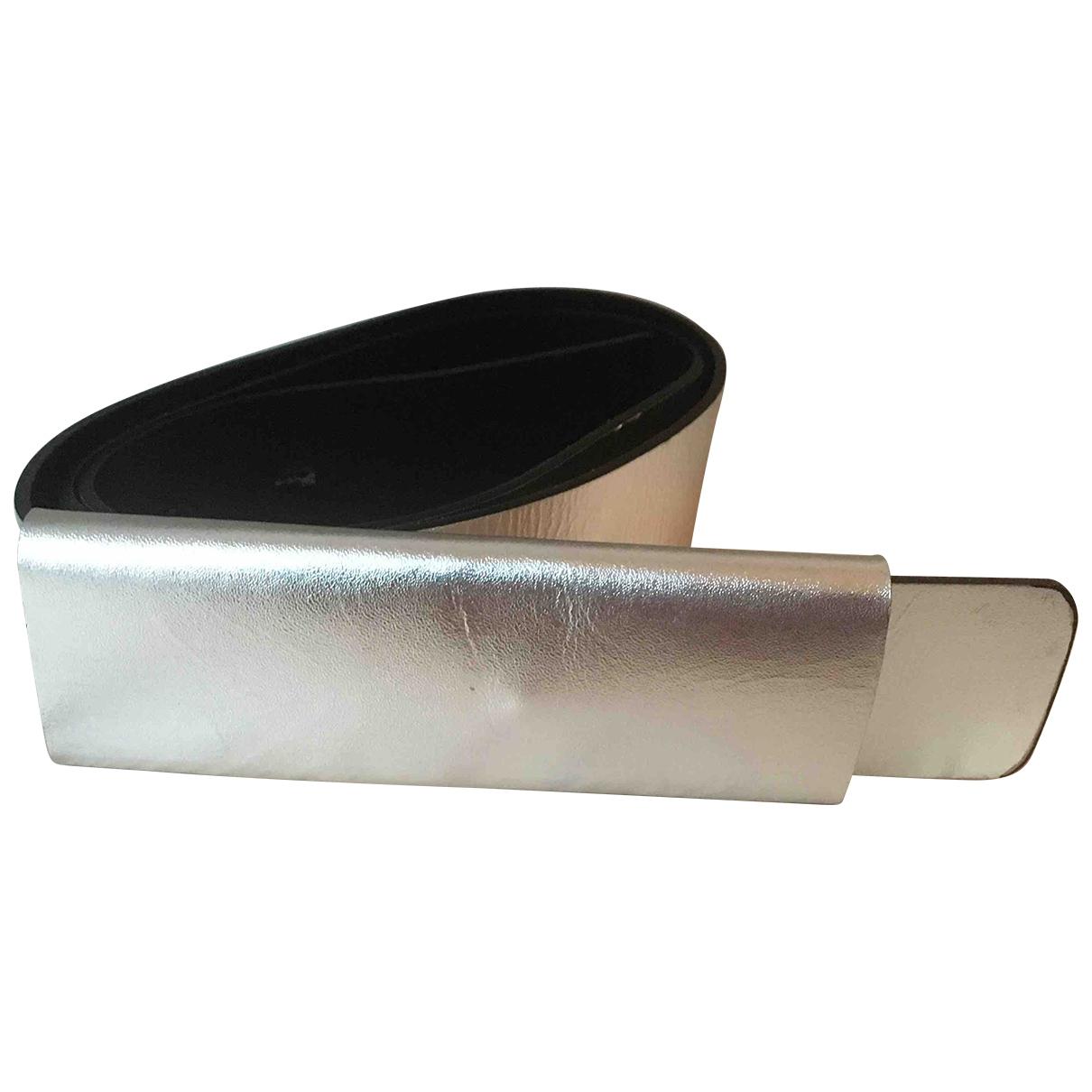 Naja Lauf \N Silver Leather belt for Women M International