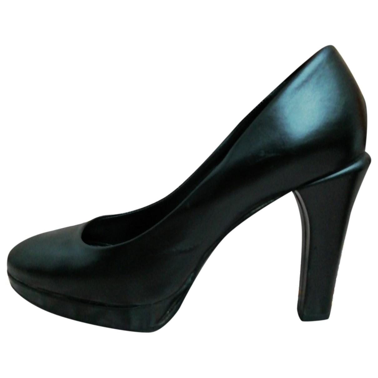 Max Mara \N Black Leather Heels for Women 36 EU