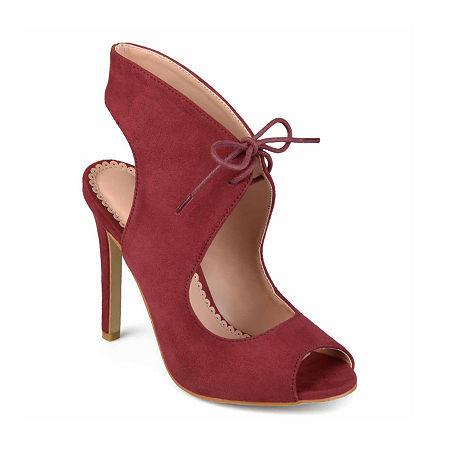 Journee Collection Womens Indigo Pumps Stiletto Heel, 5 1/2 Medium, Red