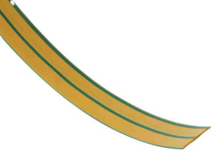 RS PRO Heat Shrink Tubing, Green 12mm Sleeve Dia. x 4m Length 3:1 Ratio