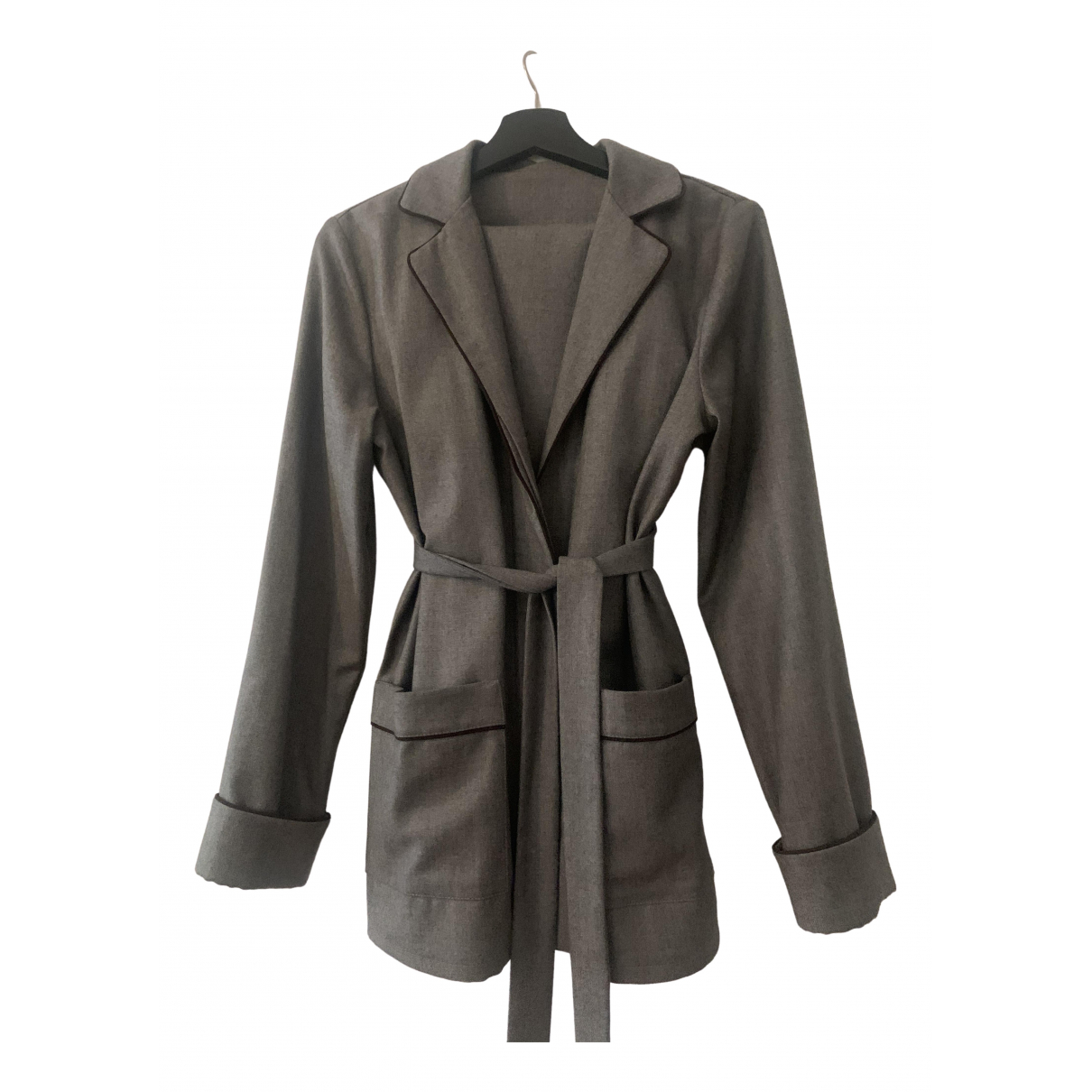 Non Signé / Unsigned \N Grey Wool jacket for Women M International