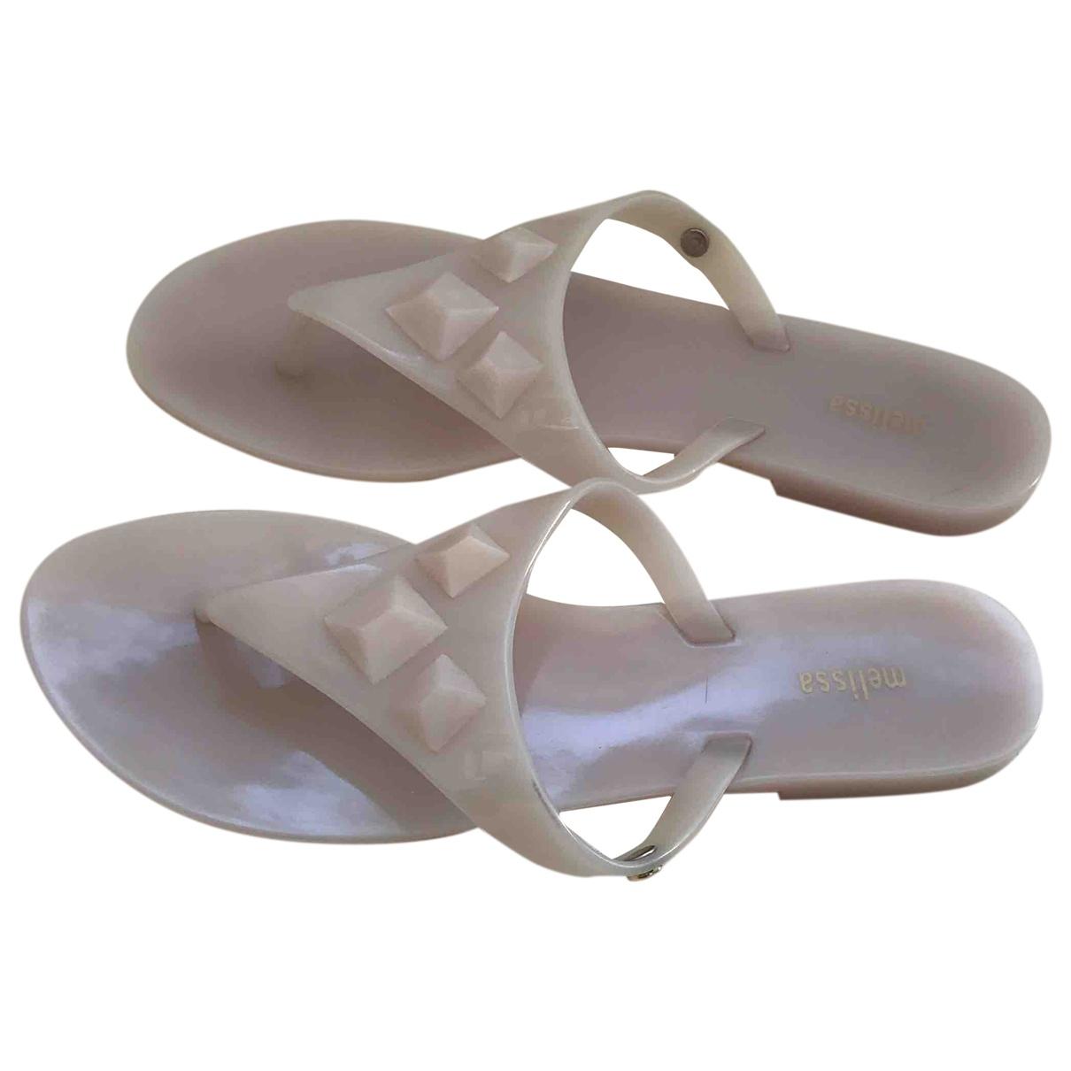 Melissa \N Beige Rubber Sandals for Women 37 EU