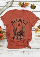 Always On Point Cactus T-Shirt Tee - Orange