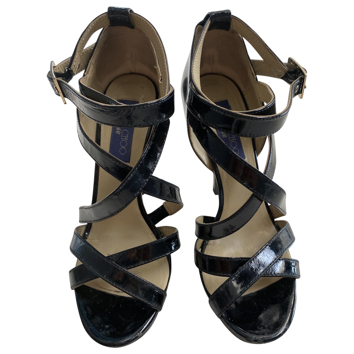 Jimmy Choo For H&m \N Black Patent leather Heels for Women 38 EU