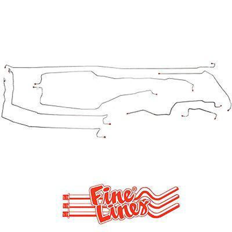 Fine Lines CBK0093SS Complete Brake Line Kit For 99-02 GM 1500 Truck 4WD Ext Cab/Long Bed Complete Stainless