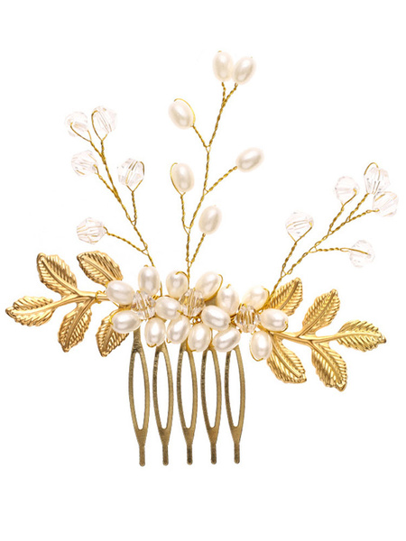 Milanoo Handmade Headpieces Wedding Comb Metal Hair Accessories For Bride