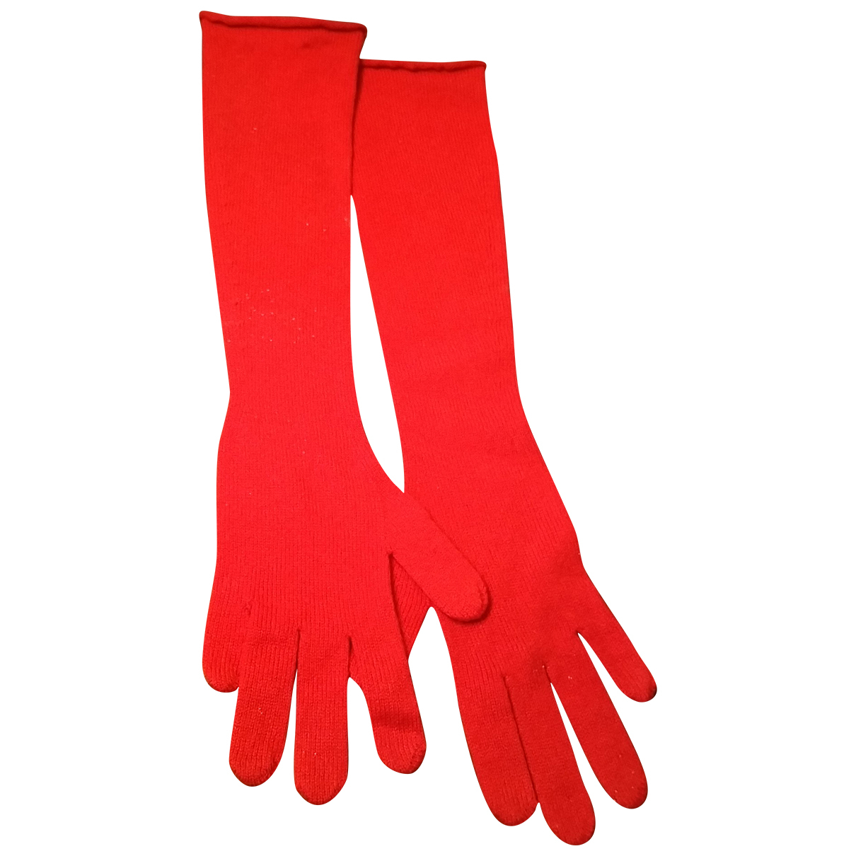 Valentino Garavani \N Red Cashmere Gloves for Women M International