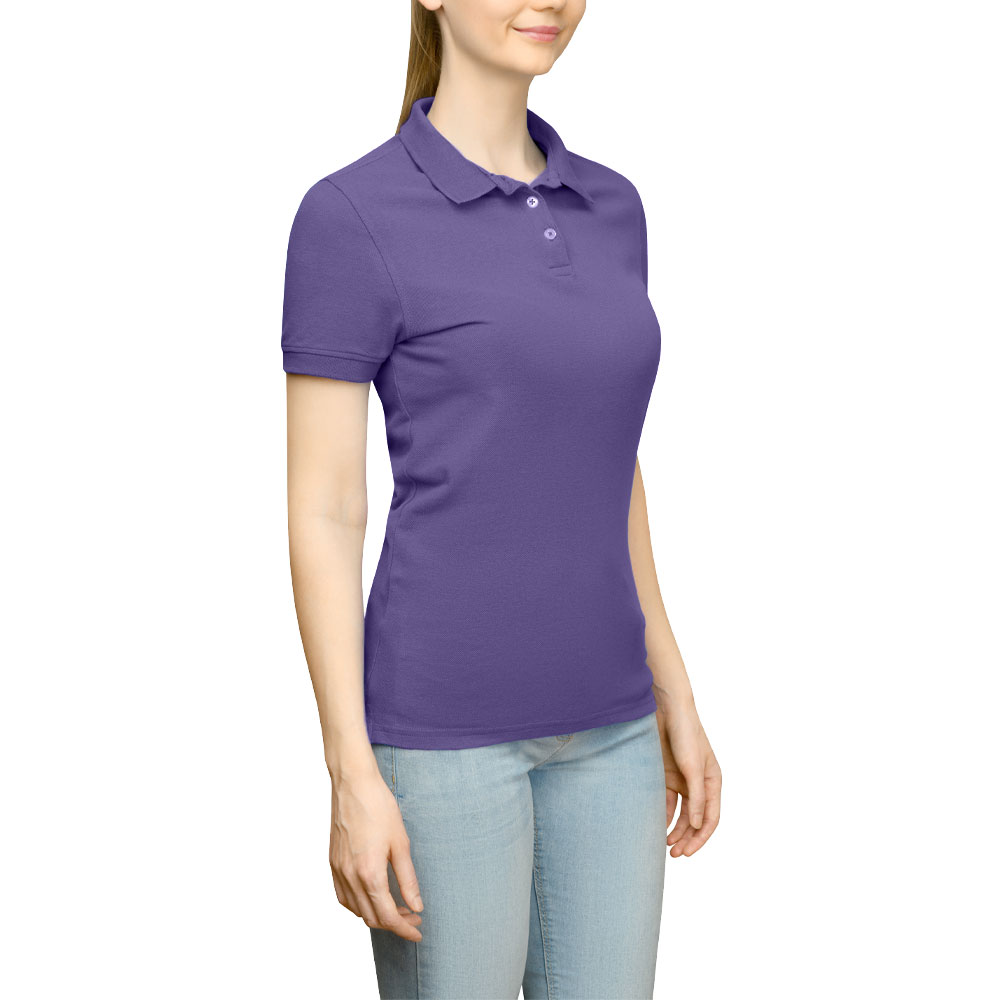 Page & Tuttle Solid Jersey Polo Golf Shirt Purple- Womens- Size XXL