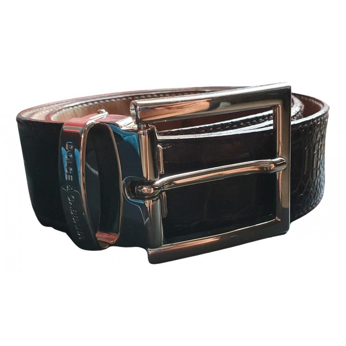 Dolce & Gabbana \N Brown Leather belt for Men 90 cm