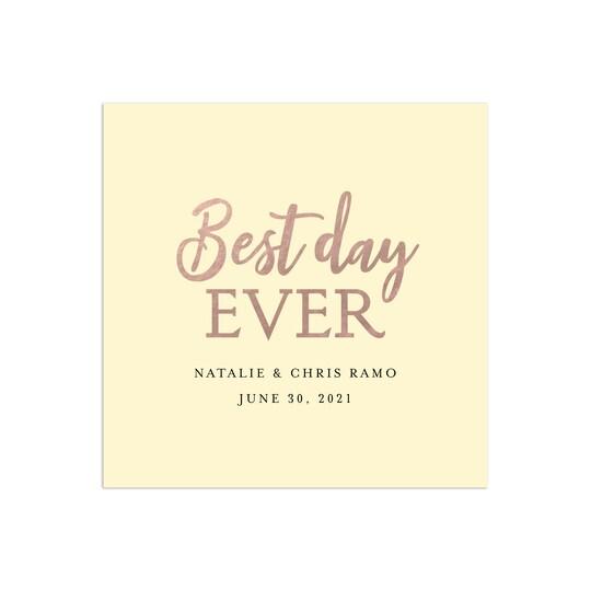 Gartner Studios® Personalized Best Day Ever Foil & Digitally Printed Wedding Napkins | Michaels®