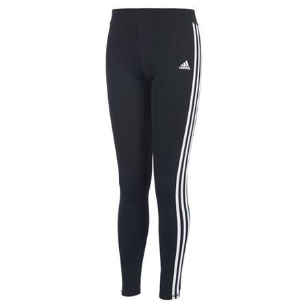 adidas Big Girls Legging, Small (7-8) , Black