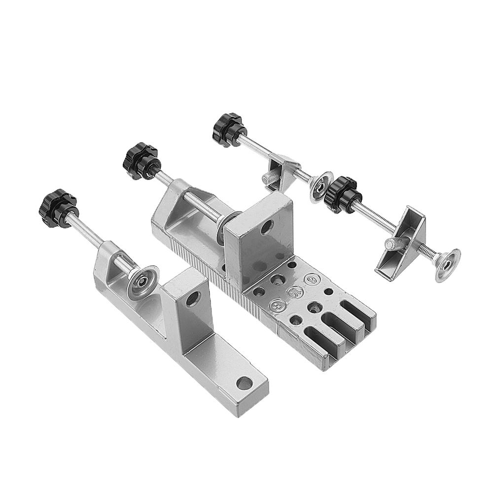 Drillpro Universal Dowelling Jig Set with Aligning Clamps Dowel Pins and Depth Stop Collars