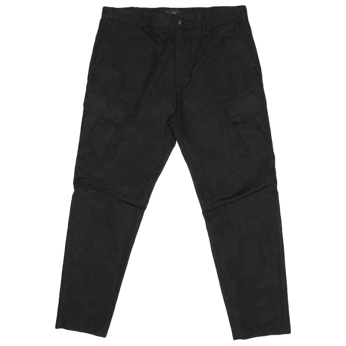 Stone Island \N Black Cotton Trousers for Men 46 IT