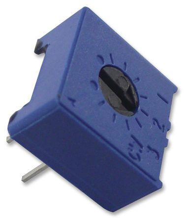Vishay 100kΩ, Through Hole Trimmer Potentiometer 0.5W Top Adjust , 63P