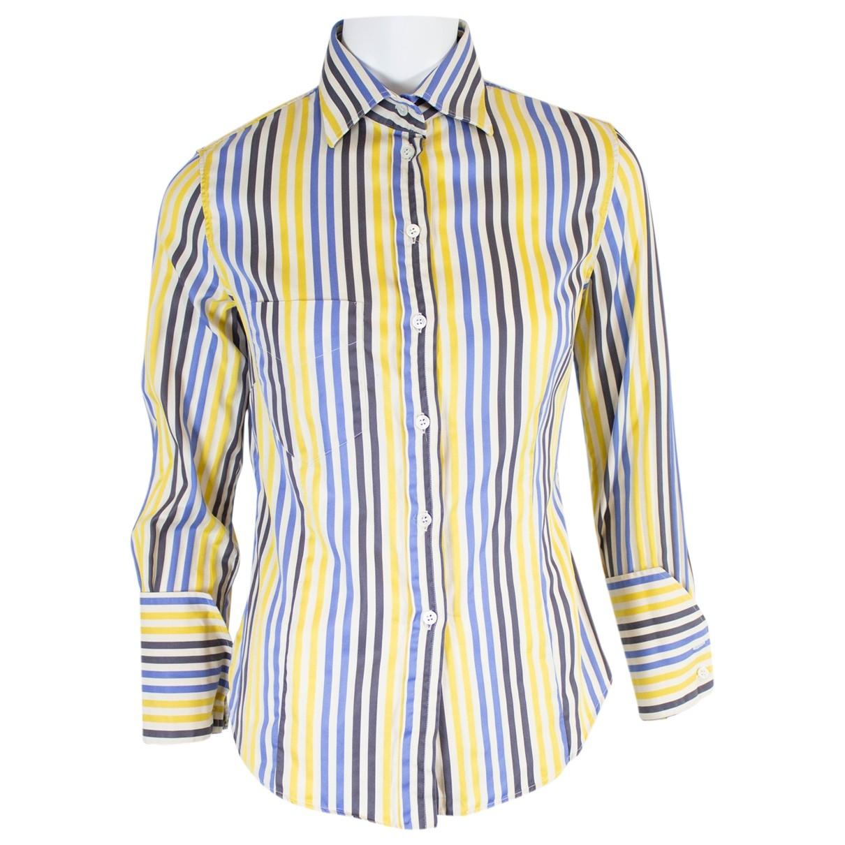 Paul Smith Blue \N Multicolour Cotton  top for Women 42 IT