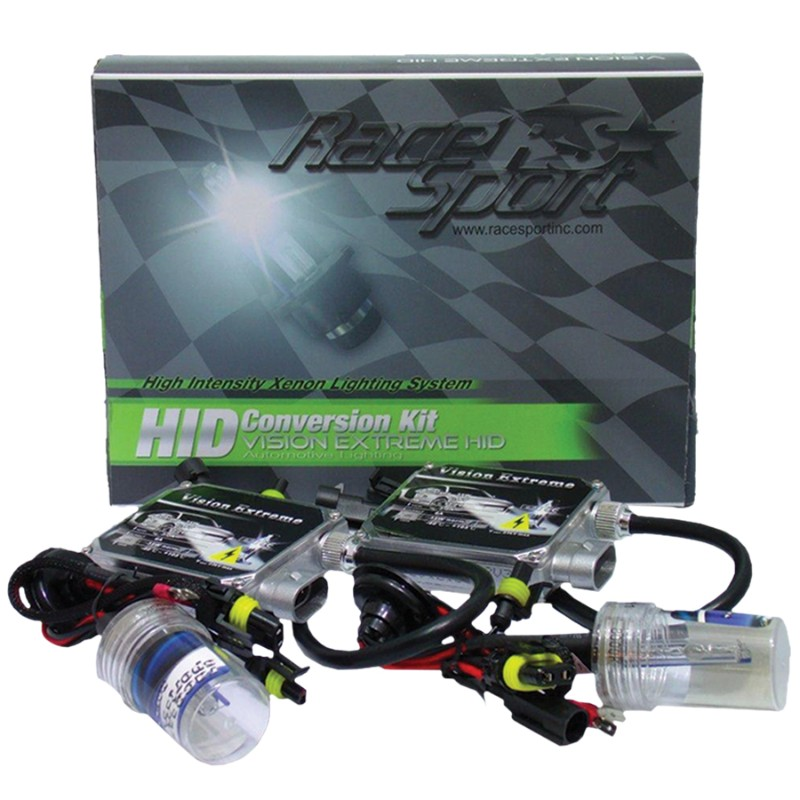 Race Sport Lighting H11-5K-VE H11 HID 5K Vision Extreme Series Mid-Slim Ballast Kit